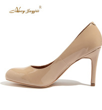 Nancyjayjii Women Mature Pleather Round Toe 6cm High Heels Pumps Shoes For Casual&Party&Dress&Wedding Shoes , Large Size 4-16