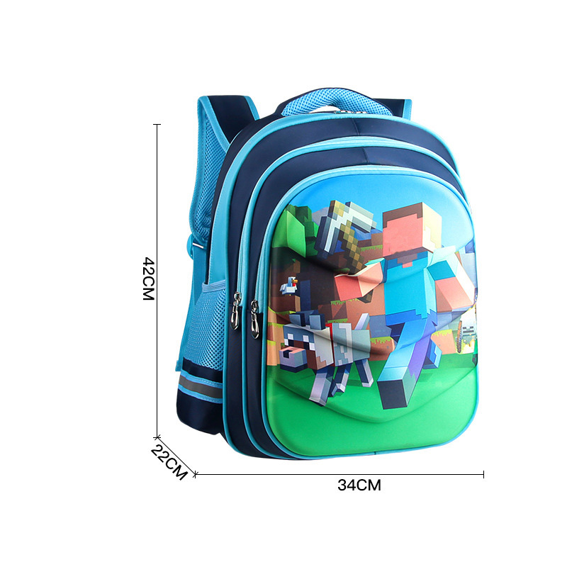 Game Minecraft 3D print Children Primary School Bag Cartoon Children's Backpack Children Gift Bag Action Figure Toys Party G free shipping 20pcs lot monsters university cartoon drawstring backpack bag children kids bag 34x27cm schoobag party gift