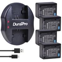 4 pc BP-718 BP 718 Vervangende Batterij + USB Oplader voor Canon BP-709  BP-745  BP-727  CG-700  VIXIA HF M50  M51  M52  M560  R48  R406