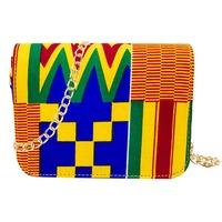 Shenbolen African Inclined Shoulder bag women High Quality Tradition Ankara Bag Cotton Wax Prints Fabric for Woman Bag