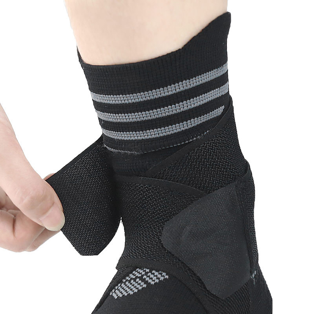 Купить с кэшбэком 1 PC Sports Compression Foot Ligament Ankle Bandage Elastic For Sport Gym Brace With Strap Belt Achilles Tendon Retainer Guard