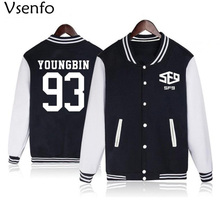 Vsenfo Kpop Sf9 Hoodies Women Men RO WOON Sweatshirt Autumn Winter Fleece Jacket Baseball Coat Fashion Streetwear Tracksuit