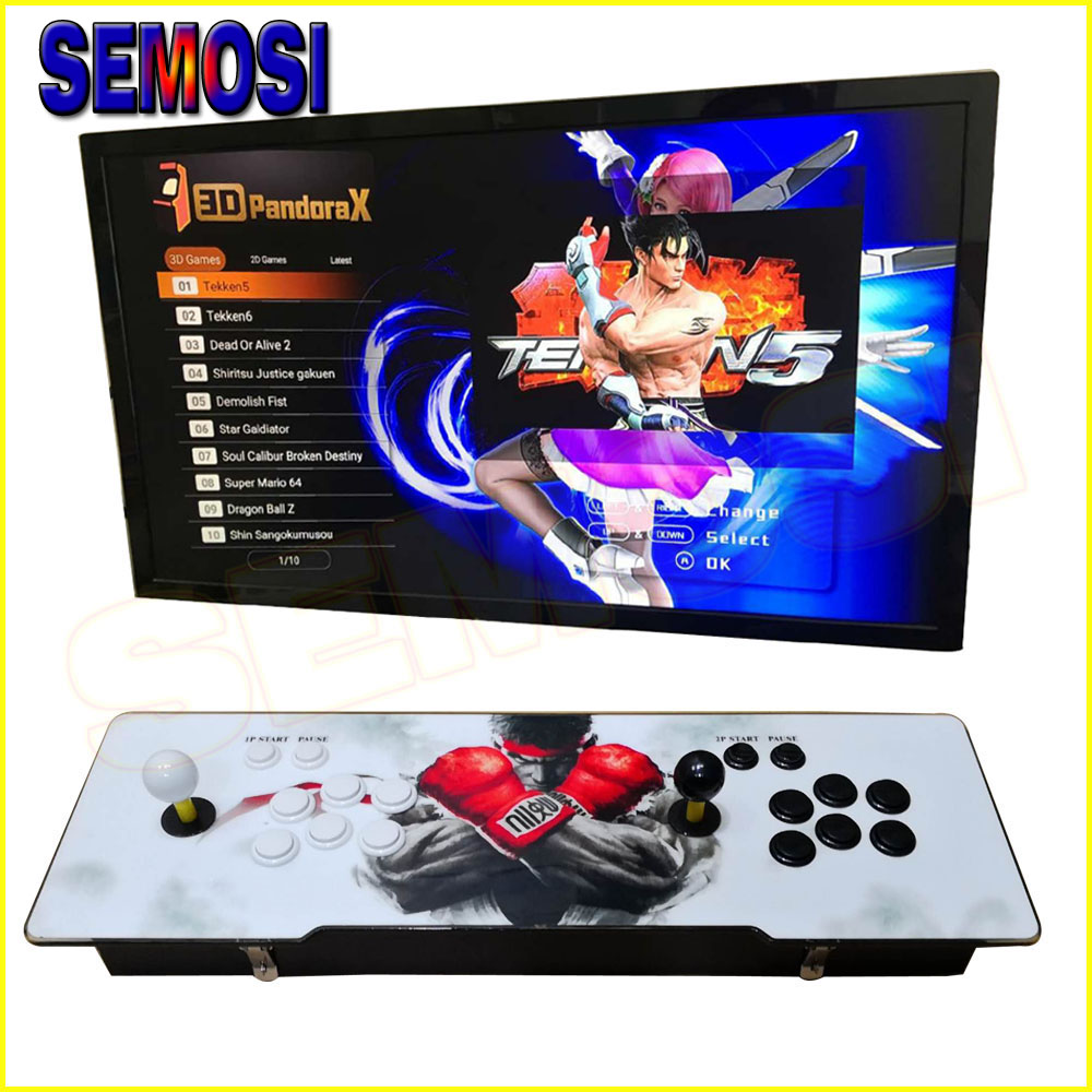 2200 in 1 3D Game Retro Arcade Gaming Console with 2100 x 2D JAMMA Games Cabinet