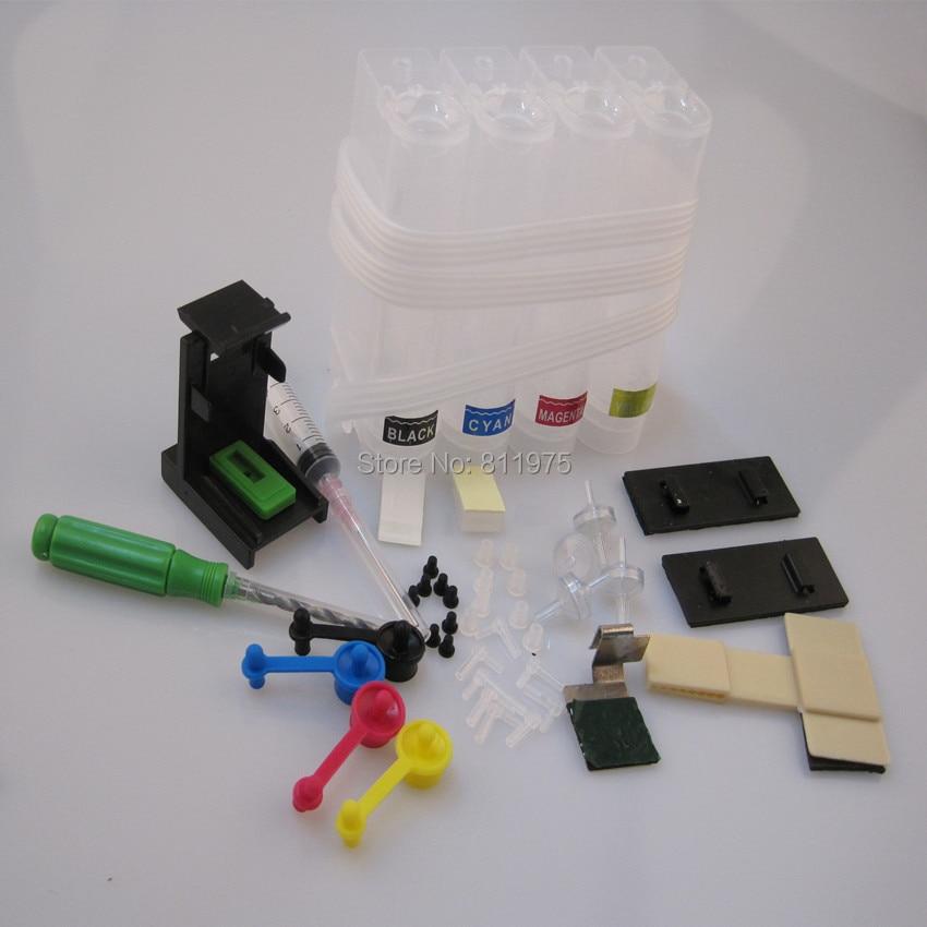 4 Color Ciss Ink Kit for HP 652 652XL for HP Deskjet 1115 2135 2136 2138 3635 3636 3835 4535 4675 Inkjet Printer Ciss Tube