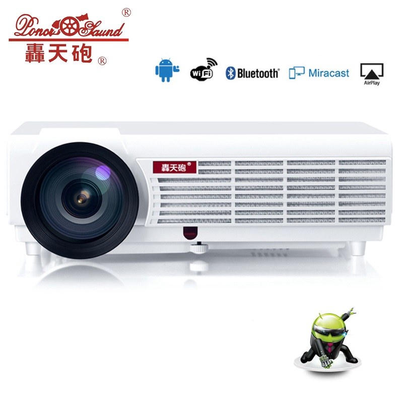 5500 Lumen Android Smart Wifi 1080 P Full Hd Led Lcd 3d Video Tv Projector Draagbare Multimedia Home Cinema Beamer