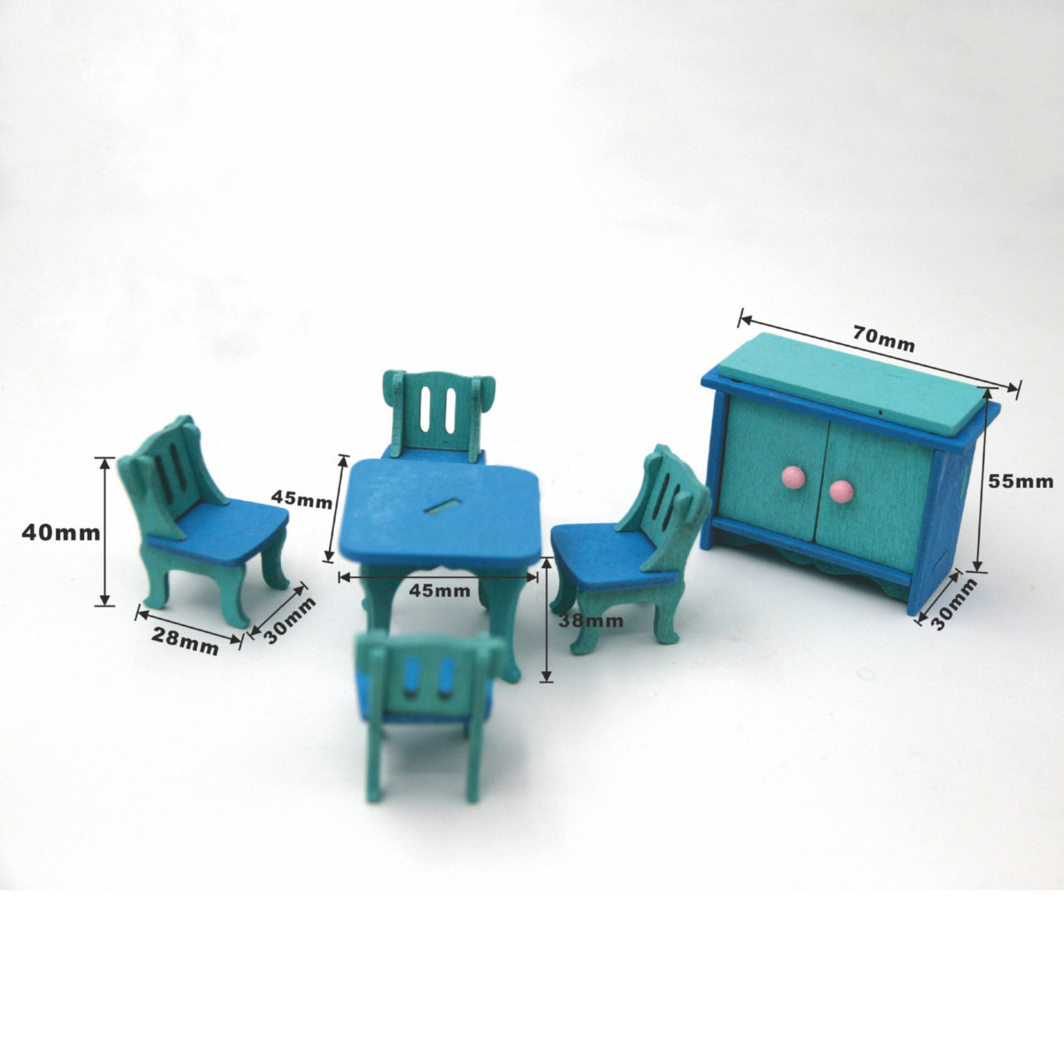 1 set/6pcs Baby Wooden Dollhouse Furniture Dolls House Miniature Child Play Toys Gifts