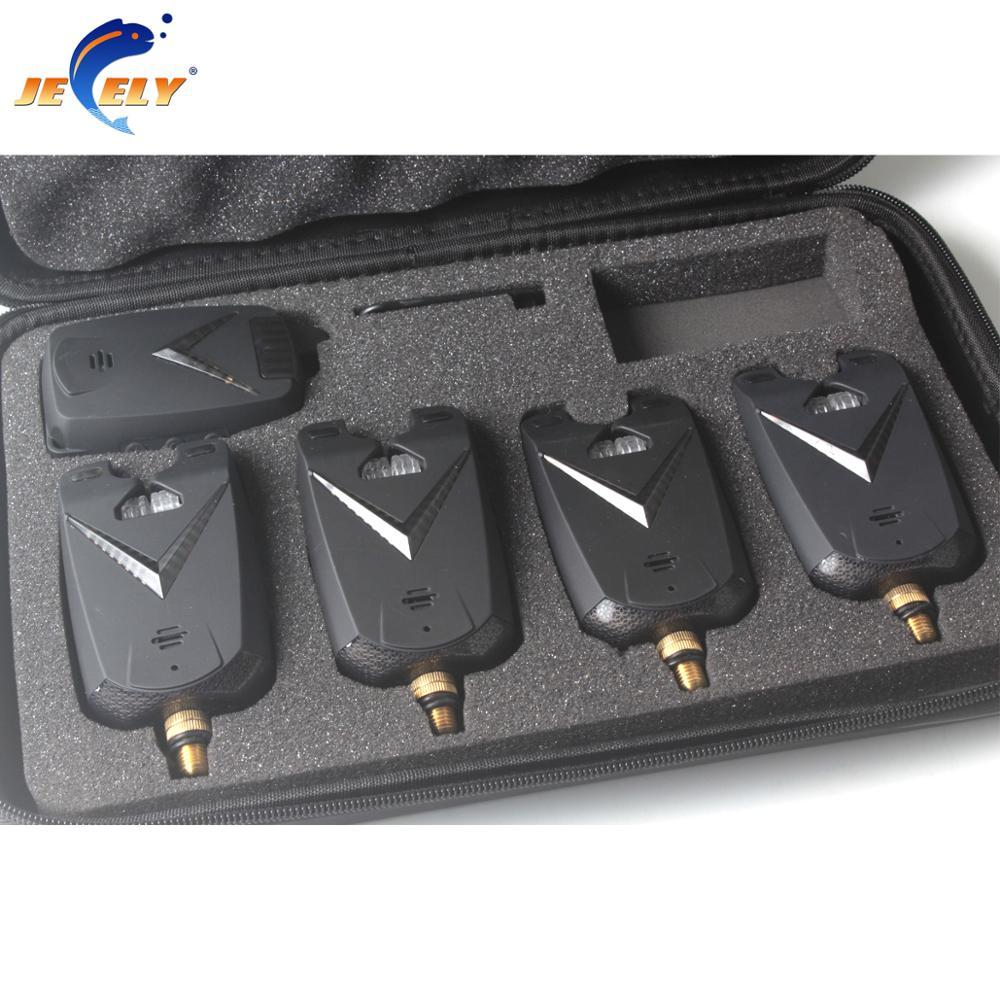 JY 68 4 Fishing bite alarm wireless fishing bite alarm set 8 LED for carp fishing
