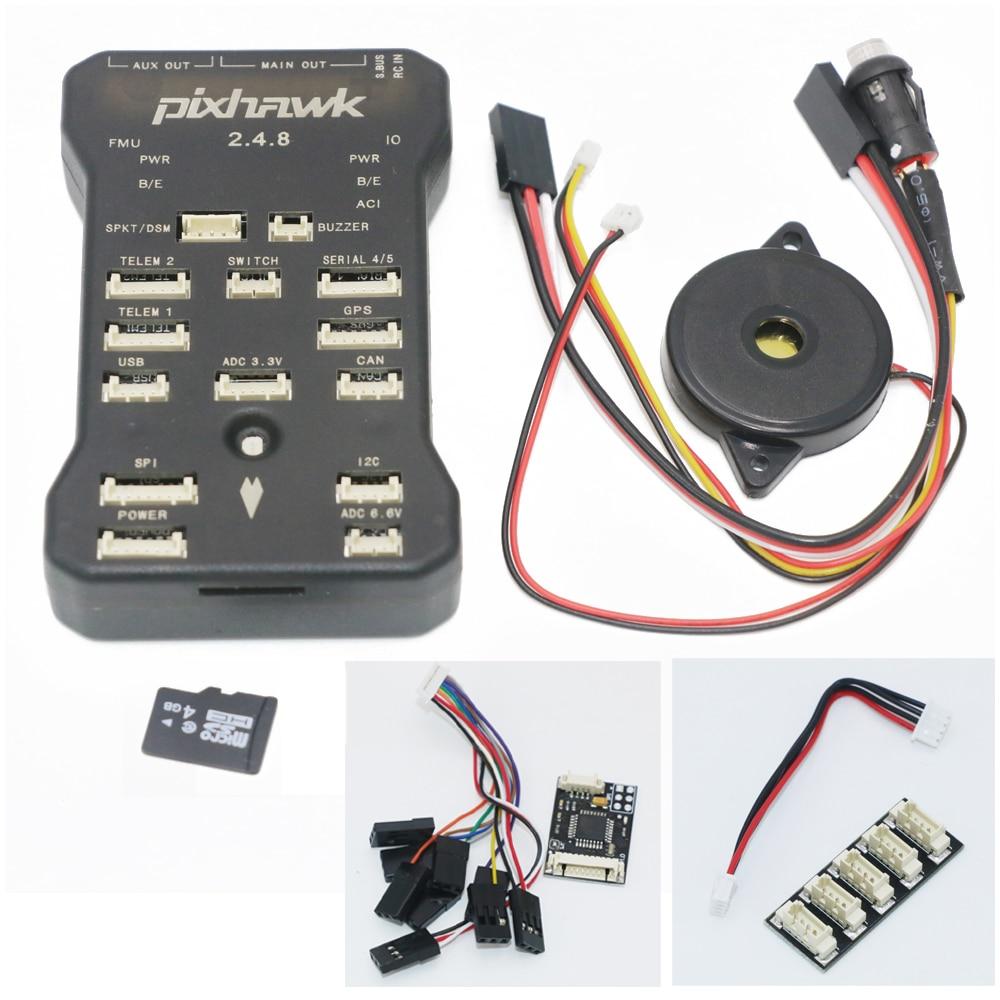 Pixhawk px4 автопилот PIX 2.4.8 32 бит Игровые джойстики с Детская безопасность коммутатора и зуммер 4 г SD и I2C сплиттер расширить модуль