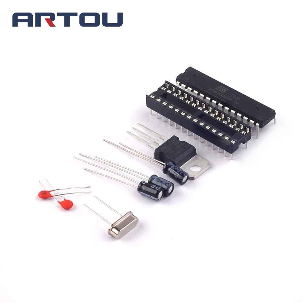 ATMEGA328P-PU загрузчик + DIP-разъем + комплект кристаллов 16 МГц