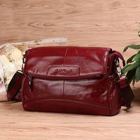 GOLD CORAL Luxury Handbags Women Bags Designer Genuine Leather Messenger Bags Shoulder Crossbody Bag Female 2018 Sac a main