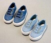boys canvas shoes denim slip on sneakers trainers sky blue dark blue for children big kids flats moccasins oxfords mocs sapatos