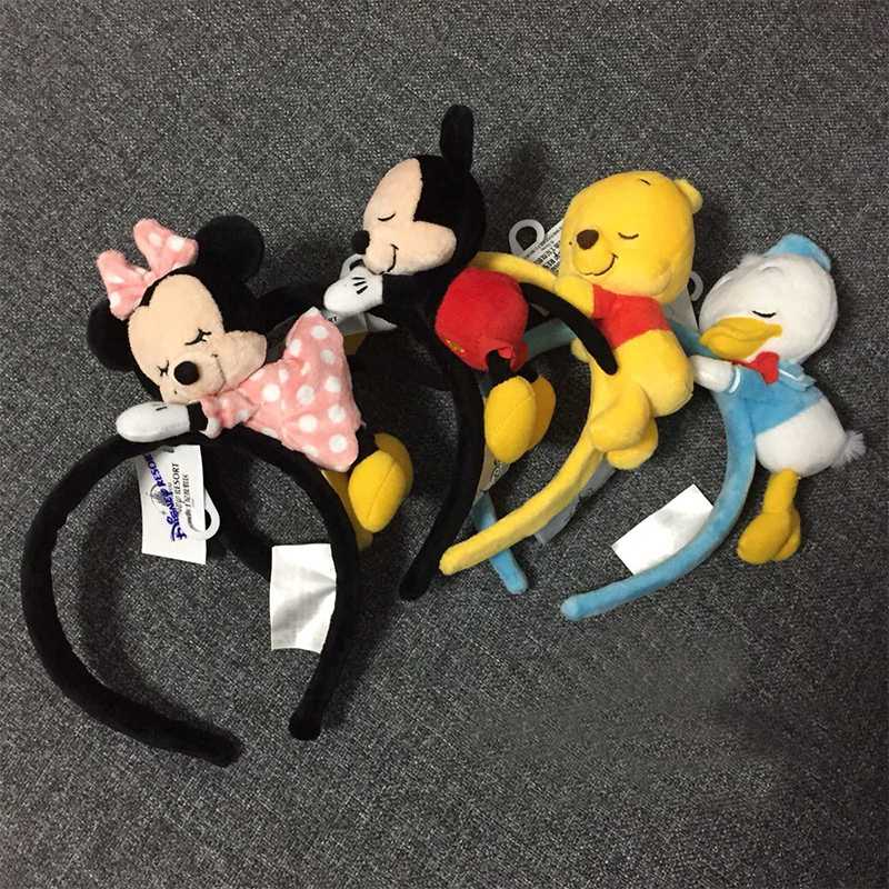 Fashion Sweett Sum Tsum Plush Toy Minnie Mickey Donald Duck Sequin EARS COSTUME Headband Cosplay Plush Adult/Kids Headband Gift
