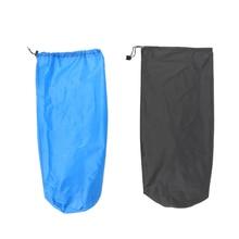 1pcs Ultra-light Drawstring Stuff Sack Sleeping Pad Mat Storage Bag for Travel Camping Hiking Fishing Mountaineering Blue/Grey