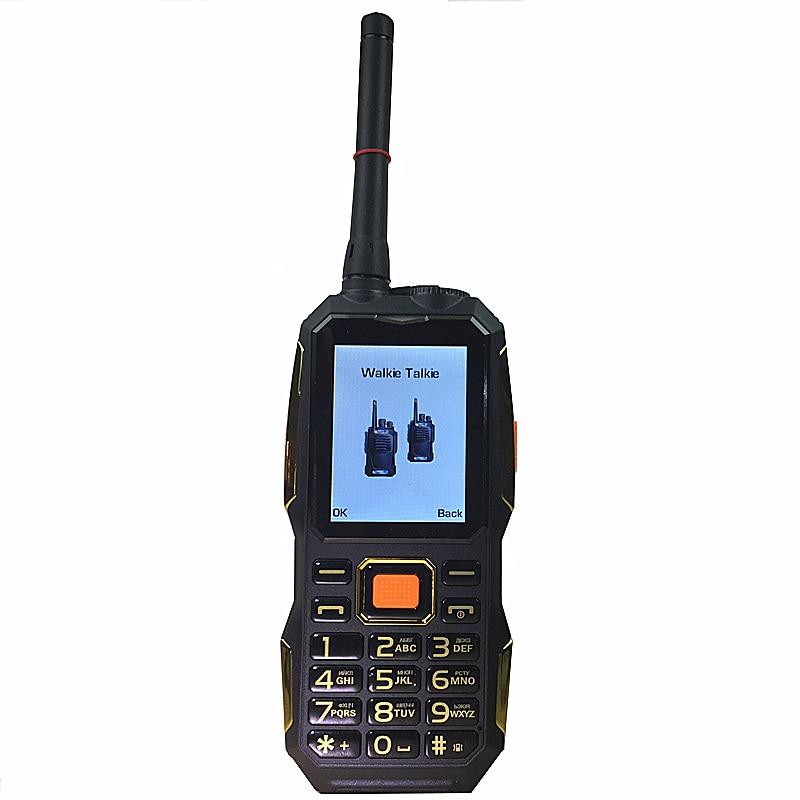 Talkie Walkie gsm TÉLÉPHONES puissance banque sans fil FM mobile téléphone Robuste antichoc chine pas cher Téléphones Cellulaires russe clavier bouton