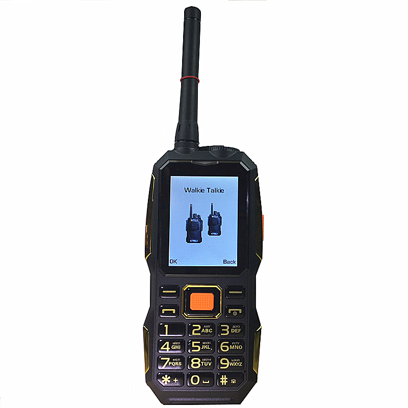 Walkie Talkie gsm PHONES power bank wireless FM mobile phone Rugged shockproof china cheap Cell Phones russian keyboard button