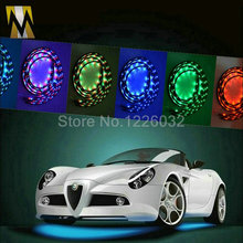 48  36 Undercar Underbody Glow 4 Piece Car LED Neon Light Kit Under Car Strip