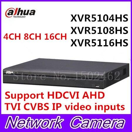 Dahua XVR video recorder XVR5104HS XVR5108HS XVR5116HS 4ch 8ch 16ch 1080P Support HDCVI/ AHD/TVI/CVBS/IP Camera dahua xvr video recorder xvr5408l xvr5416l xvr5432l 8ch 16ch 32ch 1080p support hdcvi ahd tvi cvbs ip video inputs