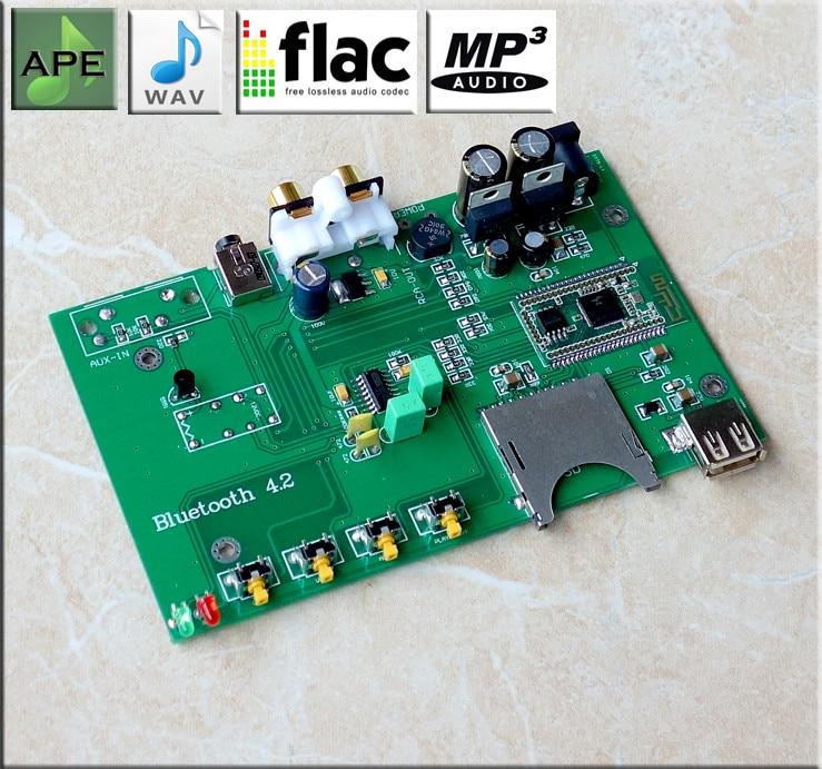 Assemblée C15 Bluetooth 4.2 HiFi lecteur sans perte carte ESS9023 USB DAC décodeur carte Support carte SD U disque Play