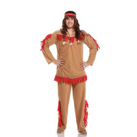 Adult Indiana Cosplay Costume Male Clothes Halloween Indian Chief Party Cosplay Clothes Photography Movie Props Clothing
