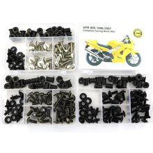 For Honda VFR800 1998-2007 Motorcycle Complete Full Fairing Bolts Kit Bodywork Screws Nut Side Covering Screws Bolts Steel nicecnc complete cnc fairing bolts kit bodywork screws nut for suzuki sv650 sv650s sv1000 sv1000s rgv250 rf600r rf900r