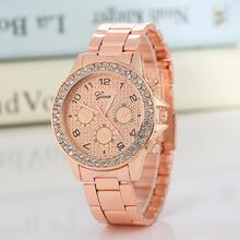 2016 New Famous Brand Rosy Gold Casual Quartz Watch Women Full Stainless Steel Dress Watches Relogio Feminino Ladies Clock Hot