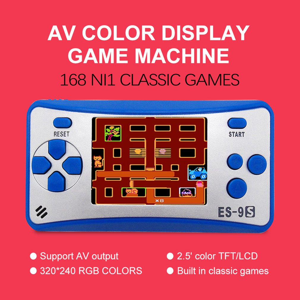 Videospiele GroßZüGig Tragbare 8 Bits Spiel Player Geschenk Für Kinder Reise Urlaub Erholung 2,5 farbe Lcd Bildschirm 168 Klassische Mini Spiele Portable Spielkonsolen