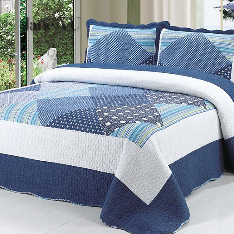 JaneYU European-style Quilted Cotton Quilted Jacket Bed Sheet Bed Cover Sheet Single Piece Pure Cotton Quilted Sets 230x250cmJaneYU European-style Quilted Cotton Quilted Jacket Bed Sheet Bed Cover Sheet Single Piece Pure Cotton Quilted Sets 230x250cm