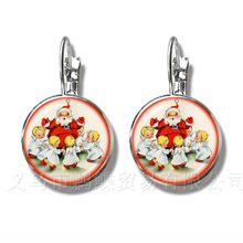 2018 Cute High Quality Handmade Christmas Gift Earrings Santa Claus New Year Greetings Stud Earrings Jewelry Xmas Gift(China)