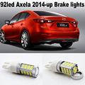 2X 92led Super Bright For Mazda Axela Mazda 3 2014 up  Brake Lights  4014 Chip7443 (Dual Circuit) 7444 W21 5W CAR LED Lamp Bulb