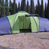 6-8persons luxury 2room 1hall double layer large family outdoor camping tent Family Party Travelling tent have large space room