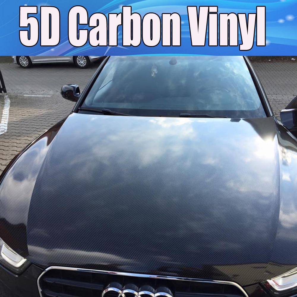 Luxury 3D 1.52*0.6M Premium High Gloss White Carbon Fiber Vinyl Wrap Bubble