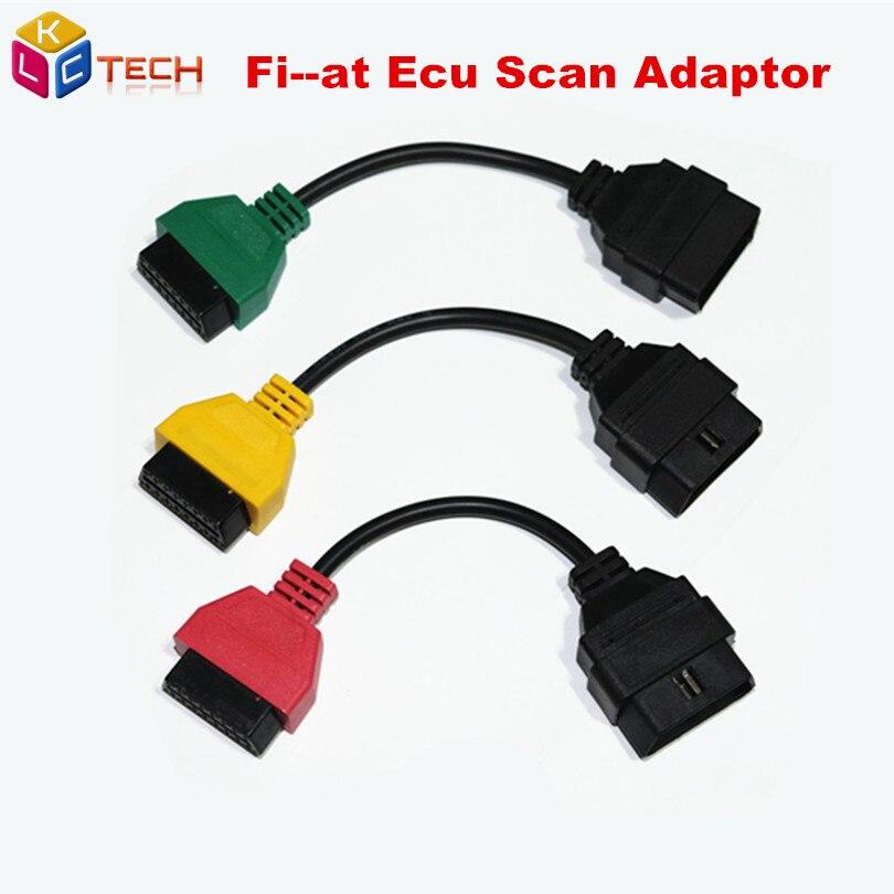 Prix pour 207 Fi-à Ecu Scan Adaptateur Connecteur 16pin OBD 2 16pin Câble OBD Câble Pour Fiat Alfa Romeo Trois couleur (3 Pièces/ensemble)