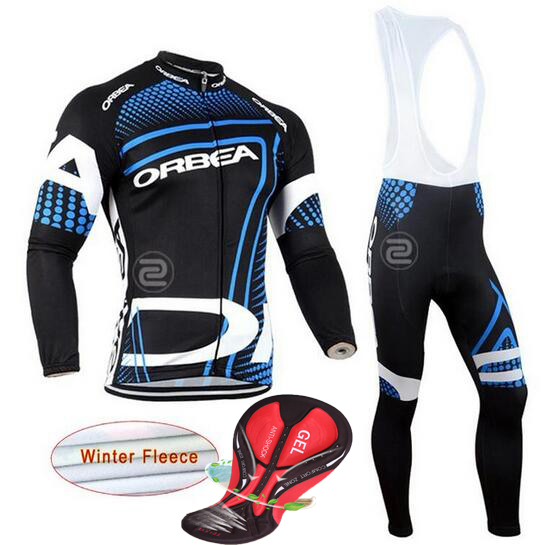 2017 ORBEA Winter Men Cycling Jersey Keep Warm Thermal Fleece Cycling Clothing Set MTB Bike Maillot Ropa De Ciclismo Hombre
