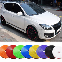 8Meter Motorcycle Car Tire Rim Protector Wheel Hub Stickers Auto Strip Covers For BMW Volkswagen Opel Toyota Nissan KIA Hyundai
