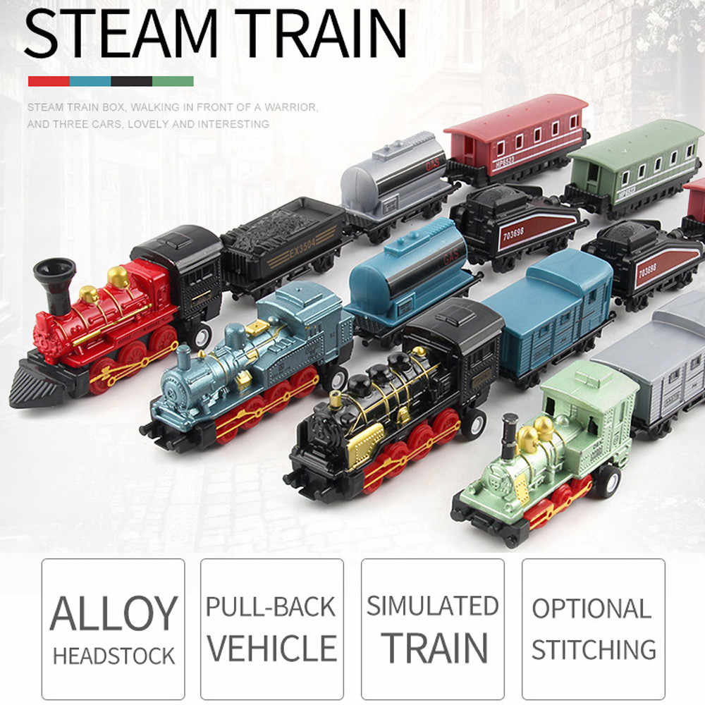 Classical Alloy Retro Steam Simulated Joint Train Model Kid Child Toys Gifts New Alloy Dro
