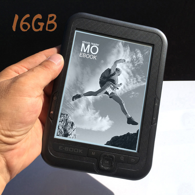 HQ Built-in 16GB 6 inch e-book reader e-ink 1024x758 High resolution display Support micro SD card Expansion Eye protection