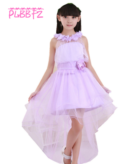 Retail Lace Tube Top Kid Flower Girls Long Trailing Wedding Dress
