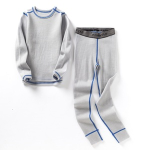 Image 5 - 100% Merino wool kids thermal thicker underwear set boys girls From 1.5 to 14 years old