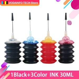 Image 2 - Royek 30ml שחור עבור Canon עבור HP כל הזרקת דיו מדפסת מתמחה דיו צבע מילוי