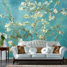 Mural 3D personalizado pintura al óleo Retro foto De Flores Papel pintado decoración del hogar sala De estar Papel De pared 3D paisaje Papel De pared Flores