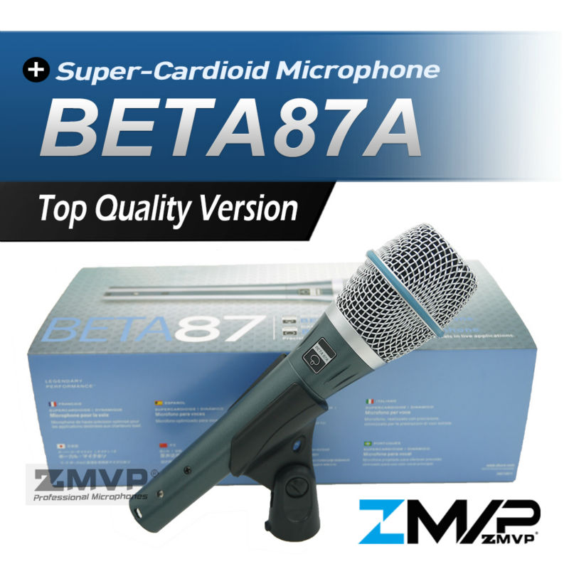 Free Shipping! Real Condenser BETA87A Top Quality Supercardioid Microphone Beta 87A Vocal Karaoke Mic BETA87 Handheld Microfone  free shipping high quality version sm 58 58lc sm58lc wired vocal karaoke handheld dynamic microphone microfone microfono mic