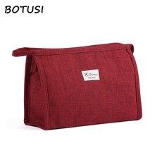 BOTUSI Cosmetics Bag Organizer Cute Makeup Travel Cosmetic Handbag Female Zipper Toiletries Waterproof