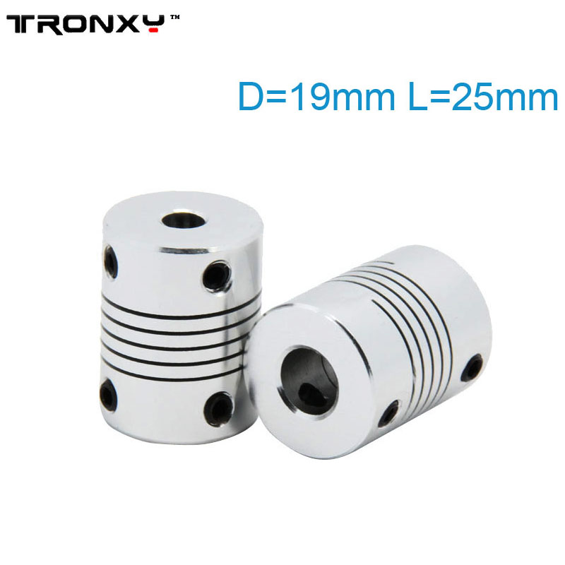 TRONXY 1PC 5x8x25mm 5x5x25mm Flexible Coupling Coupler Shaft For 3D Printer Stepper Motor Z Axis Parts Printing Accessories in 3D Printer Parts Accessories from Computer Office