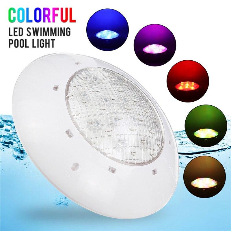 LED piscine lumière RGB lumières sous-marines 55 W AC/DC 12 V LED éclairage de piscine + télécommande IP68 pour bassin extérieur décor de fête