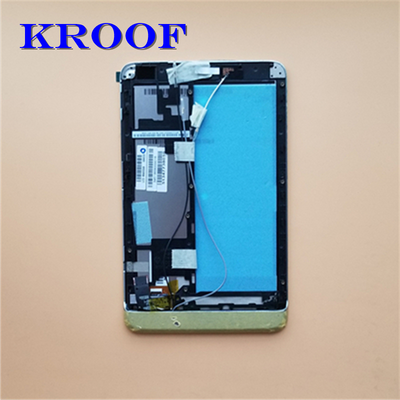 For lenovo miix 2 8 Replacement LCD Display+Touch Screen Digitizer Assembly with Frame white black blue for huawei honor 8 frd l09 lcd display pantalla touch glass digitizer frame assembly replacement screen