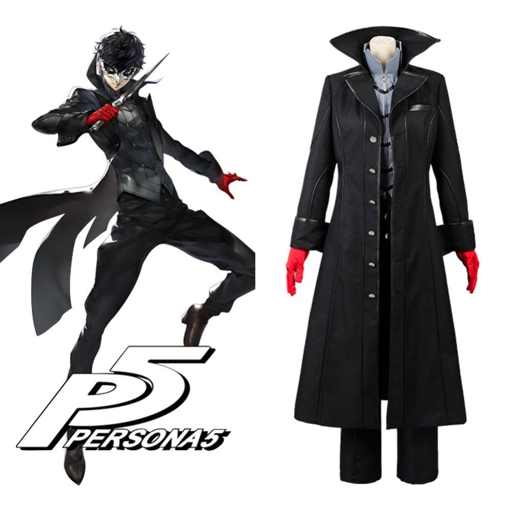 Persona 5 P5 Persona Kaitou Black Sweatshirt Hoodie Jacket cosplay costume coat