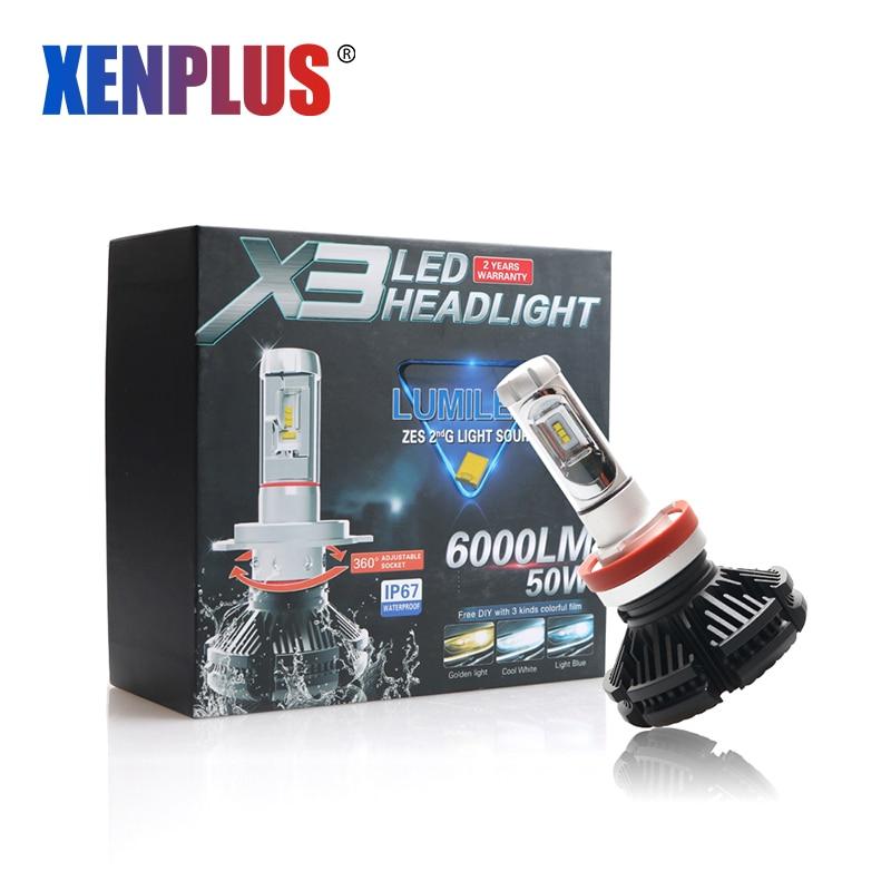 Xenplus H11 LED Headlight H7 H4 H9 H8 H27 880 9003 HB2 HB3 9006 9007 - Car Lights