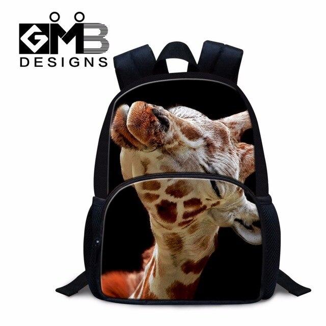 97b17d17c5 Scuola materna Piccolo sacchetto di Zaini Giraffa 3D Stampato mini zaino  scuola di animale borse modello