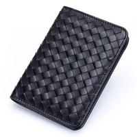 Genuine Leather Passport Cover Sheepskin Card Holder For Men Women Fashion Cards Wallet Travel Check Clip