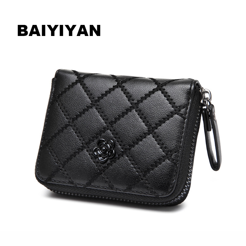 2017 New High Quality Brand Hot Lady Women Purse Clutch Wallet Leather Short Small handbag Card Holder 2017 genuine cowhide leather brand women wallet short design lady small coin purse mini clutch cartera high quality